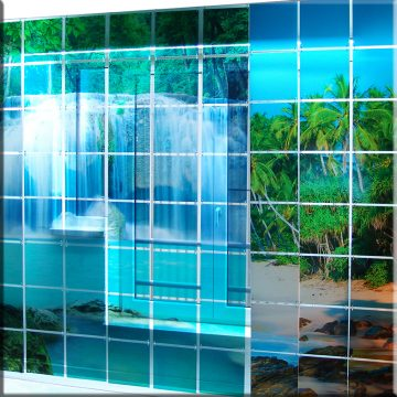 SQUAREPlay Window with a view waterval Exclusive daglicht bewerktG