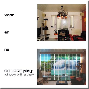 SQUAREPlay Window with a view waterval Exclusive voor en naQ